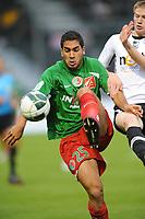 FOOTBALL - FRENCH CHAMPIONSHIP 2010/2011 - L2 - SCO ANGERS v CS SEDAN - 27/08/2010 - PHOTO PASCAL ALLEE / DPPI - WESLEY LAUTOA (SEDAN) / GAETAN CHARBONNIER (SCO)
