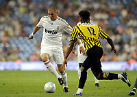 Fotball<br /> Foto: DPPI/Digitalsport<br /> NORWAY ONLY<br /> <br /> FOOTBALL - PEACE CUP 2009 - REAL MADRID v AL ITTIHAD - 26/07/2009 <br /> <br /> KARIM BENZEMA (REAL)