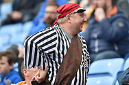 A Shrewsbury Town in a Pirate costume during the EFL Sky Bet League 1 match between Coventry City and Shrewsbury Town at the Ricoh Arena, Coventry, England on 28 April 2019.