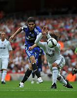 Photo: Tony Oudot/Richard Lane Photography. SV Hamburg v Real Madrid. Emirates Cup. 02/08/2008. <br /> Jose Paolo Guerrero of Hamburg fires in a shot