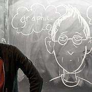 Cartoonist and graphic novelist Alison Bechdel