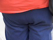 butt of a obese woman