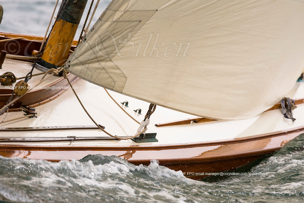 Tilly XV sailing in the Marblehead Corinthian Classic Yacht Regatta, day one.