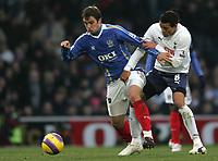 Photo: Lee Earle/Sportsbeat Images.<br /> Portsmouth v Tottenham Hotspur. The FA Barclays Premiership. 15/12/2007. Portsmouth's Niko Kranjcar (L) battles with Jermaine Jenas.