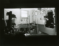 1943 Stage light control room at left of stage at the Hollywood Canteen