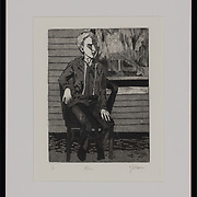 """Title: Miles<br /> <br /> Artist: Jennifer Moore<br /> Date: 2015<br /> Medium: Etching<br /> Dimensions: 11.25 x 14.25""""<br /> Instructor: Belinda Casey<br /> Awards: Honorable Mention, Printmaking, 39th Annual Student Exhibition<br /> Status: On Display<br /> Location: Cypress Creek Campus Commons, Building 1000"""