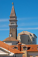 St George Church. Piran , Slovenia Visit our PHOTO COLLECTIONS OF SLOVANIAN  HISTOIC PLACES for more photos to download or buy as wall art prints https://funkystock.photoshelter.com/gallery-collection/Pictures-Images-of-Slovenia-Photos-of-Slovenian-Historic-Landmark-Sites/C0000_BlKhcYWnT4Sites/C0000qxA2zGFjd_k