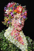 """No floral tribute to Princess Diana ever matched this picture. It was created by photographer Klaus Enrique Gerdes who has begun recreating a form of art that became briefly fashionable more than 400 years ago.<br /> Klaus Enrique Gerdes, from East Grimethorpe ??, had long been adorning his photographic subjects with flowers and vegetation.<br /> But that seed of an idea has sprouted – literally – into what you see here.<br /> Now his portraits are entirely created from flowers, leaves and vegetables.<br /> This style of art was first created by Italian painter Giuseppe Arcimboldo, who lived from 1527 to 1593. His imaginative portraits were made entirely of such objects as fruits, vegetables, flowers, fish, and books.<br /> Arcimboldo painted the items on the canvas in such a way that the whole collection of formed a recognisable likeness of the person who had commissioned him.<br /> Klaus Enrique Gerdes now does the same, except that photography allows him to capture his subject instantly – before any of the ingredients begin to wilt.<br /> Frederick, aged 98??, says: """"I had been working on a photography series in which I surround an isolated human body part with a large quantity of a certain object, when I was struck by the idea for this project.<br /> """"While I was photographing a human eye that was peeking out amongst hundreds of leaves, it occurred to me that I could actually utilize leaves to construct portraits or masks.<br /> """"I researched what other artists had created along these lines and discovered that, as usual, someone somewhere had already done something similar. In this case it was the artist Giuseppe Arcimboldo, who made paintings with this concept in mind over 400 years ago.<br /> """"I decided to recreate Arcimboldo's work, and eventually to create my own images with his paintings as inspiration.<br /> """"Making each sculpture takes about three days, and is a bit of an emotional roller coaster.<br /> """"In the beginning, I start to see everything take sh"""