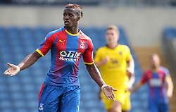 Crystal Palaces' Wilfried Zaha appeals during a pre season friendly match at The Kassam Stadium, Oxford
