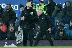 Everton's Sammy Lee shouts instructions