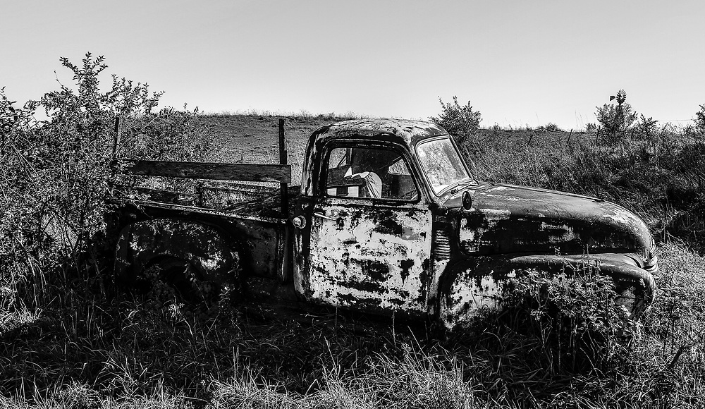 Old Chevy Workhorse put out to pasture. Photo taken October 25, 2019.