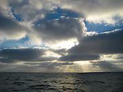 Sun Burst On The Ocean