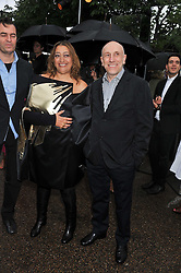 Left to right, ?, ZAHA HADID and BRIAN CLARKE at the annual Serpentine Gallery Summer Party sponsored by Burberry held at the Serpentine Gallery, Kensington Gardens, London on 28th June 2011.