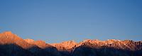 Mount Whitney and Sierra Nevada mountains sunrise, California