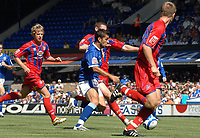 Photo: Ashley Pickering.<br /> Ipswich Town v Crystal Palace. Coca Cola Championship. 26/08/2007.<br /> Pablo Counago of Ipswich (blue) tries to find a way through the Palace defence
