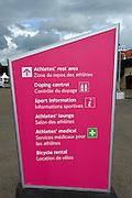 Eton Dorney, Windsor, Great Britain,..2012 London Olympic Regatta, Dorney Lake. Eton Rowing Centre, Berkshire.  Dorney Lake.  ..Doping Control, Signage and Lab/Clinic area...15:42:40  Saturday  04/08/2012 [Mandatory Credit: Peter Spurrier/Intersport Images]