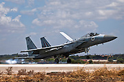 Israeli Air force F-15C Fighter jet landing