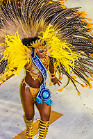 Carnaval princess in the Carnaval parade of Inocentes de Belford Roxo samba school in the