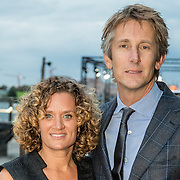 NLD/Amsterdam/20161008 - JFK Greatest Man 2016, Edwin van der Sar en partner Annemarie van Kesteren