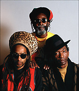 Don Letts with Burning Spear and Thomas  Mapfumo at Island Records 1990
