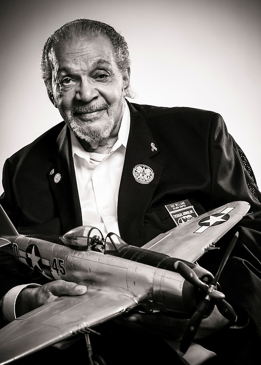 Tuskegee Airman Ray Williams was a member of the last graduating class.  After the war he served with the Newark, New Jersey police department, retiring as a detective.   <br /> <br /> Created by aviation photographer John Slemp of Aerographs Aviation Photography. Clients include Goodyear Aviation Tires, Phillips 66 Aviation Fuels, Smithsonian Air & Space magazine, and The Lindbergh Foundation.  Specialising in high end commercial aviation photography and the supply of aviation stock photography for advertising, corporate, and editorial use.