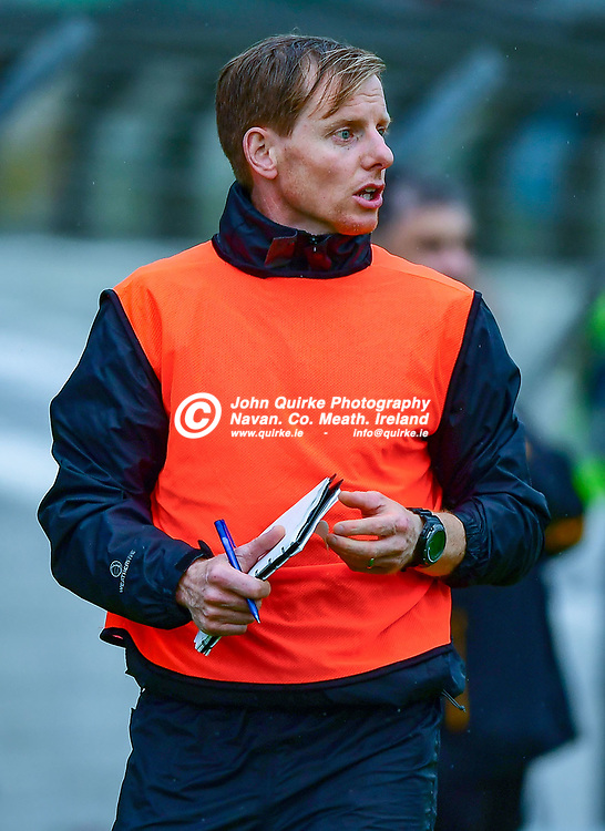 Na Fianna manager, Michael Foley, keeps an eye on developements,  during the Na Fianna v Senechalstown, SFC, Round One match in Pairc Tailteann, Navan.<br /> <br /> Photo: GERRY SHANAHAN-WWW.QUIRKE.IE<br /> <br /> 01-08-2020