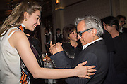 TATIANA OJJEH; ANISH KAPOOR,, Anish Kapoor and Lee Ufan preview dinner hosted by the Lisson Gallery after the opening on Bell St. The Connaught. London. 23 March 2015