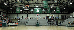 10 January 2015:  Altered image to Panoramic of Shirk Center basketball court during an NCAA women's division 3 CCIW basketball game between the Carthage Reds and the Illinois Wesleyan Titans in Shirk Center, Bloomington IL