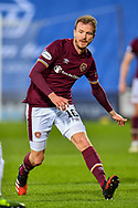Andy Halliday (#16) of Heart of Midlothian FC during the SPFL Championship match between Heart of Midlothian FC and Alloa Athletic FC at Tynecastle Park, Edinburgh, Scotland on 9 April 2021.