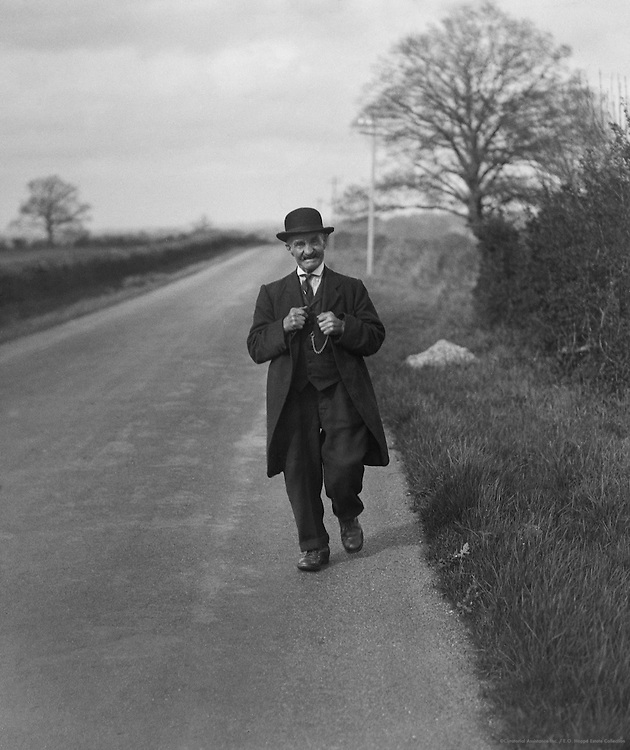 Man on Worthing Pond, Sussex, England, 1932