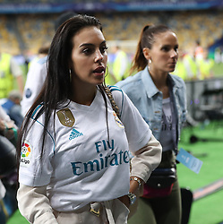 May 26, 2018 - Kiev, Ukraine - Cristiano Ronaldo of Real Madrid's girlfriend, Georgina Rodriguez looks on after the UEFA Champions League Final between Real Madrid and Liverpool at NSC Olimpiyskiy Stadium on May 26, 2018 in Kiev, Ukraine. (Credit Image: © Raddad Jebarah/NurPhoto via ZUMA Press)