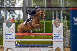 Moerings Bas, NED, Kindesth<br /> Nationaal Kampioenschap KWPN<br /> 5 jarigen springen final<br /> Stal Tops - Valkenswaard 2020<br /> © Hippo Foto - Dirk Caremans<br /> 19/08/2020