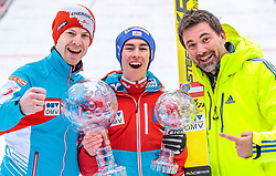 26.03.2017, Planica, Ratece, SLO, FIS Weltcup Ski Sprung, Planica, Siegerehrung, im Bild Michael Hayboeck (AUT), Gesamtweltcup- und Skiflug Weltcup Sieger Stefan Kraft (AUT) und sein Manager Patrick Murnig // Michael Hayboeck of Austria Overall World Cup and Ski Flying World Cup winner Stefan Kraft of Austria and his manager Patrick Murnig during the Winner Award Ceremony of the FIS Ski Jumping World Cup Final 2017 at Planica in Ratece, Slovenia on 2017/03/26. EXPA Pictures © 2017, PhotoCredit: EXPA/ JFK