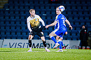 Crewe Alexandra midfielder Charlie Kirk (10) and Gillingham FC midfielder Kyle Dempsey (8) battles for possession during the EFL Sky Bet League 1 match between Gillingham and Crewe Alexandra at the MEMS Priestfield Stadium, Gillingham, England on 26 January 2021.