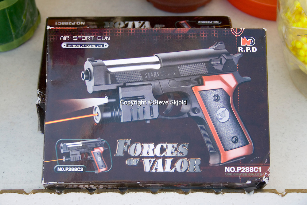 Forces of Valor air sport gun BB pellet pistol for sale. Hmong Sports Festival McMurray Field St Paul Minnesota USA