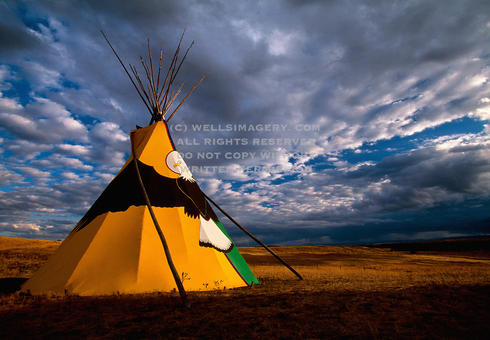 Image of a native American teepee at Custer Battlefield Trading Post, Montana, Pacific Northwest by Randy Wells