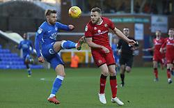 Matt Godden of Peterborough United in action with Nicky Devlin of Walsall - Mandatory by-line: Joe Dent/JMP - 22/12/2018 - FOOTBALL - ABAX Stadium - Peterborough, England - Peterborough United v Walsall - Sky Bet League One