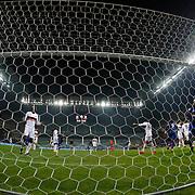 Kayserispor Erciyesspor's scores during their Turkish superleague soccer match Kayserispor Erciyesspor between Besiktas at Kadir Has Stadium in Kayseri Turkey on Monday 27 October 2014. Photo by Aykut AKICI/TURKPIX