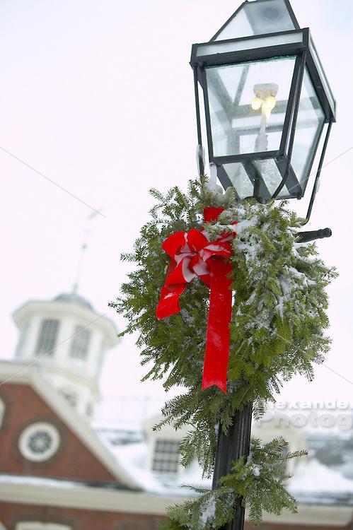 USA, Newport, RI - Winter scene