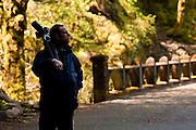 Photographer at Columbia River Gorge, Oregon.