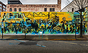 A mural celebrating the Civil Rights heritage from the Freedom Fighters, who aimed to desegregate interstate transport, to Rosa Parks and the 1965 Marchers on 3rd March 2020 in Montgomery, Alabama, United States.