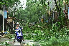 China: Typhoon Sarika, 18 Oct. 2016