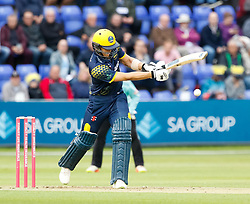 Glamorgan's Craig Meschede hits a boundary<br /> <br /> Photographer Simon King/Replay Images<br /> <br /> Vitality Blast T20 - Round 14 - Glamorgan v Surrey - Friday 17th August 2018 - Sophia Gardens - Cardiff<br /> <br /> World Copyright © Replay Images . All rights reserved. info@replayimages.co.uk - http://replayimages.co.uk