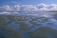Clearing strom clouds over beach near Samoa, Humboldt County, California