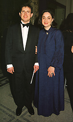 MR & MRS CARLOS ORTIZ-PATINO members of the Bolivian multi-millionaire tin mining family, at a ball in London on 12th March 1999.MPH 72