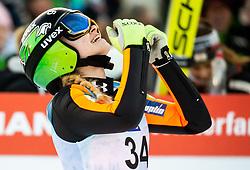 Nika Kriznar of Slovenia reacts during 2nd Round at Day 1 of World Cup Ski Jumping Ladies Ljubno 2019, on February 8, 2019 in Ljubno ob Savinji, Slovenia. Photo by Matic Ritonja / Sportida