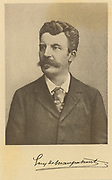 (Henri Rene Albert) Guy de Maupassant (1850-1893) French writer and novelist and one of the greatest exponents of the short story. Engraving published at the time of Maupassant's death.
