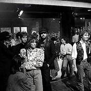NLD/Bussum/19890117 - Jubileum uitzending Countdown, oa presentator Wessel van Diepen, Normaal met Bennie Jolink en Frank Boeijen