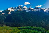 Aerial views flying between Haines and Glacier Bay National Park, Alaska USA.