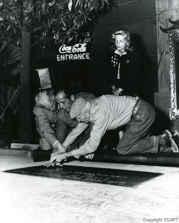 1946 Humphrey Bogart's hand/footprint ceremony at the Chinese Theater
